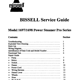 bissell 1697 user manual power steamer pro series manuals and guides 99040364 [ 932 x 1076 Pixel ]