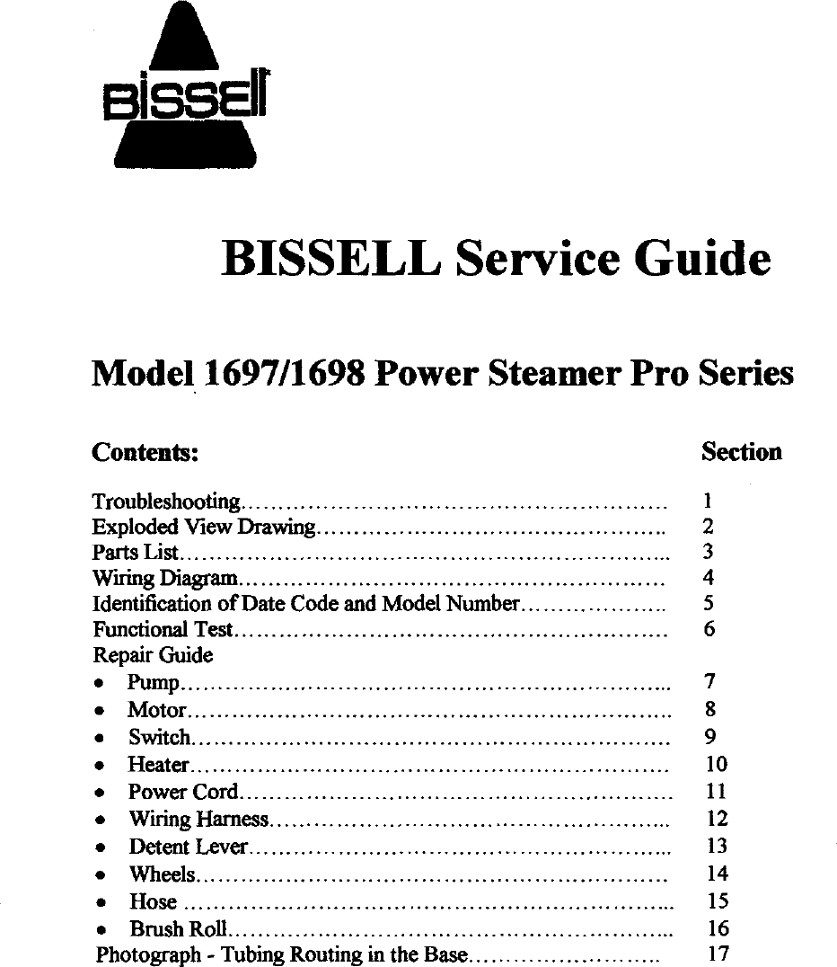 hight resolution of bissell 1697 user manual power steamer pro series manuals and guides 99040364