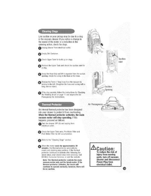 small resolution of bissell 3760 user manual upright vacuum manuals and guides l0521446 wiring diagram of hoover carpet cleaner