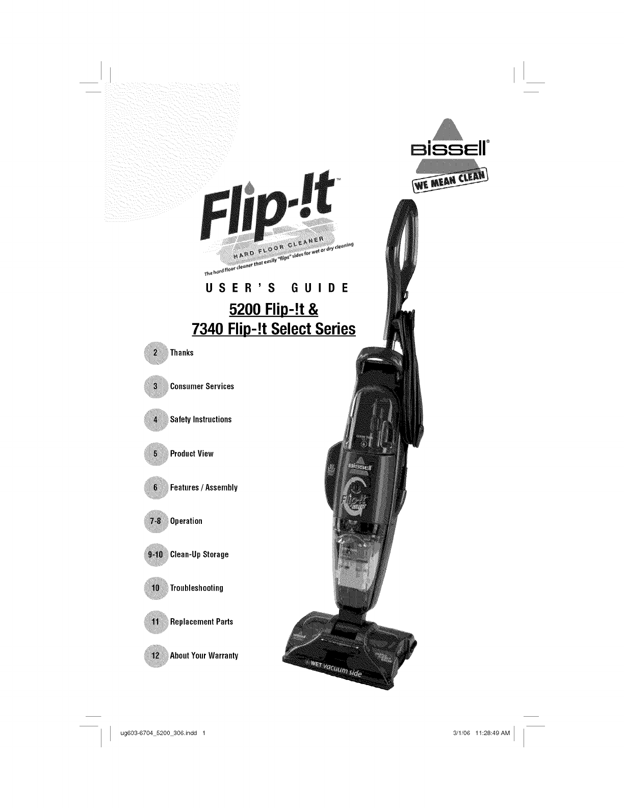 Bissell 5200 User Manual FLIP IT VAC Manuals And Guides