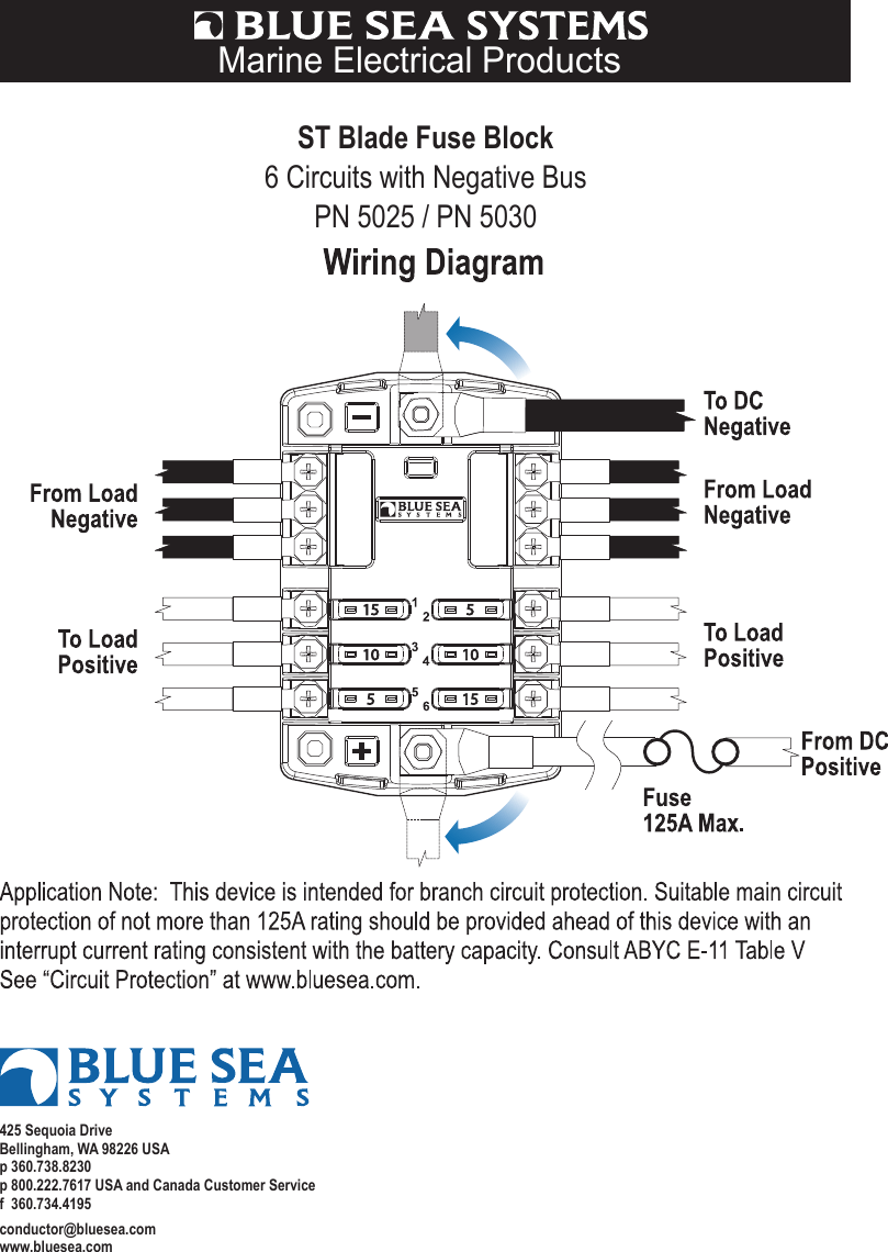 medium resolution of blue sea systems printer accessories pn 5025 users manual wiring diagram 5025 5030