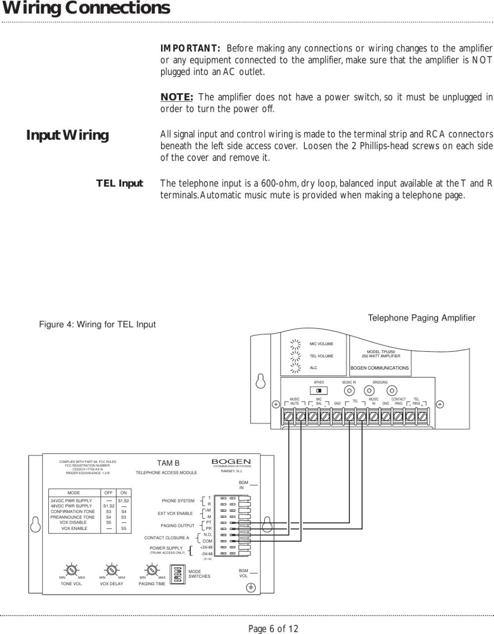 medium resolution of  wiring diagram on bogen tpu250 users manual 54 5900 01r1 on