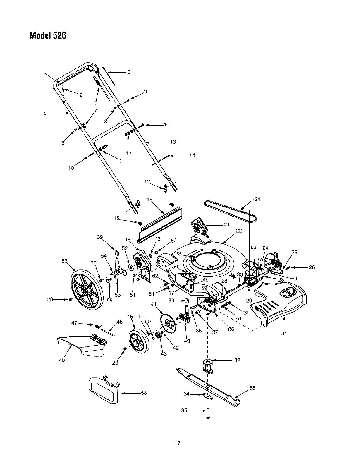 Bolens 12A 526L163 User Manual LAWN MOWER Manuals And