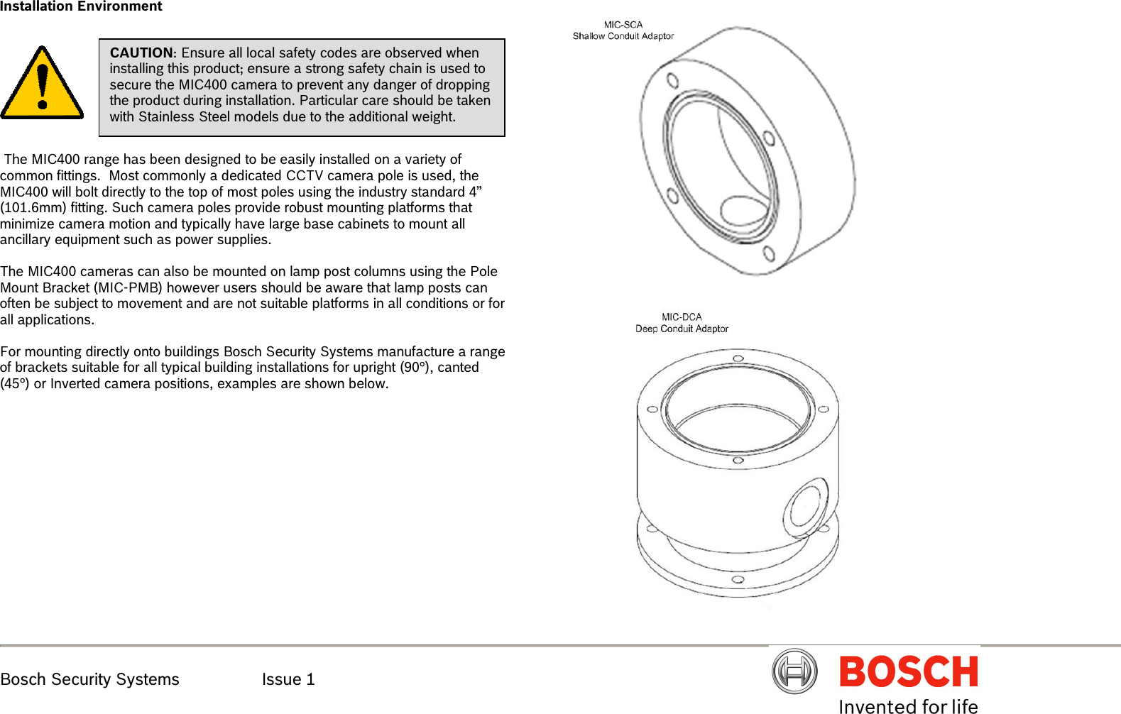 hight resolution of boschhome bosch appliances security camera mic400al users manual mic400 series ptz installation en issue 1x