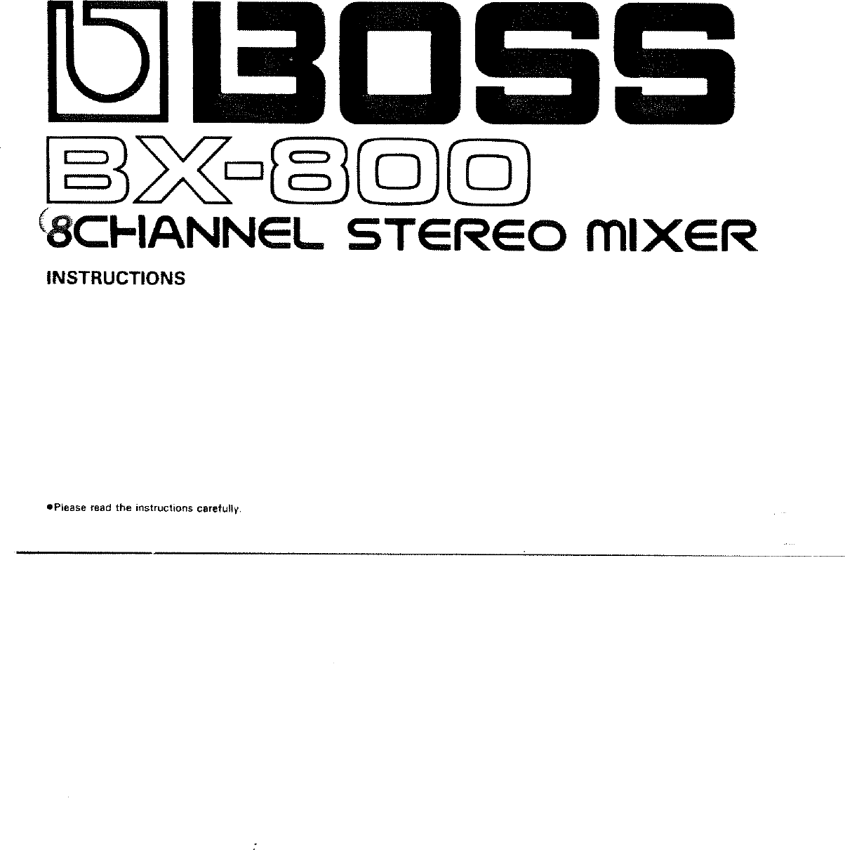Boss Bx 800 Instruction Manual ManualsLib Makes It Easy To