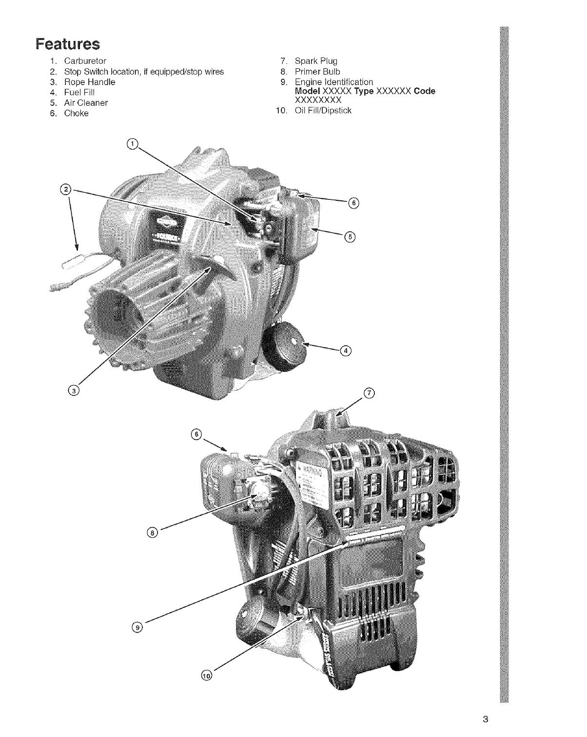 Briggs & Stratton 021032 0562 E1 User Manual GAS ENGINE