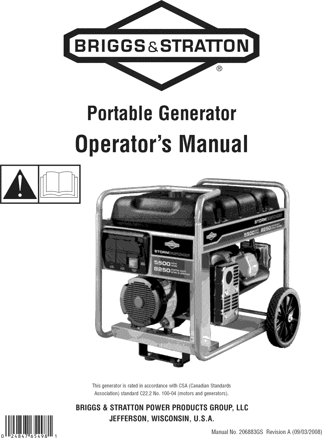 Briggs & Stratton 030430 User Manual GENERATOR Manuals And