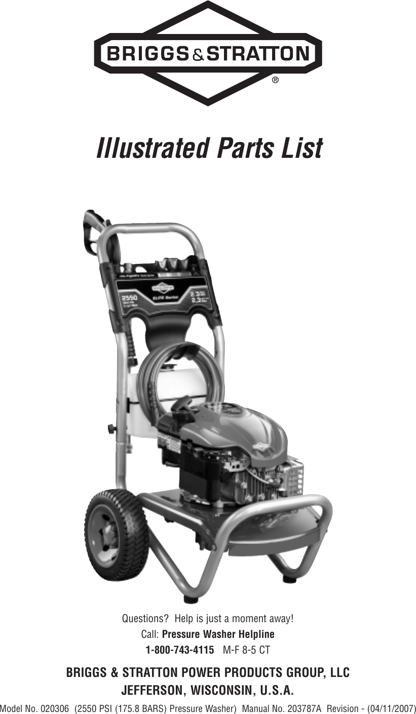 Briggs And Stratton 20306 Users Manual 020306_0pl