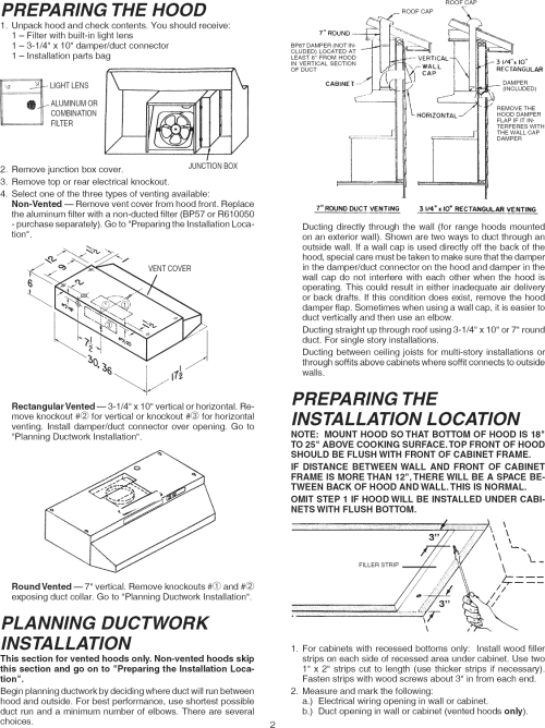 small resolution of page 2 of 8 broan 433004 user manual range hood manuals and guides l1004013