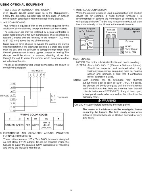 small resolution of page 5 of 10 broan broan furnace 30042432a users manual