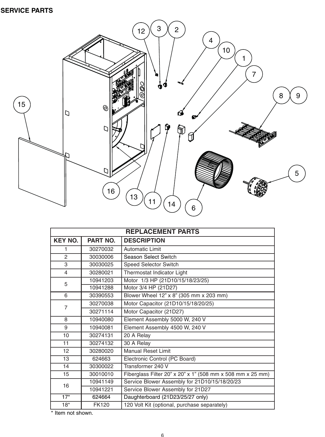 hight resolution of page 6 of 10 broan broan furnace 30042432a users manual