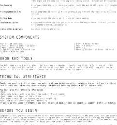 page 2 of 8 bulldog security bulldog security remote starter  [ 1124 x 1496 Pixel ]