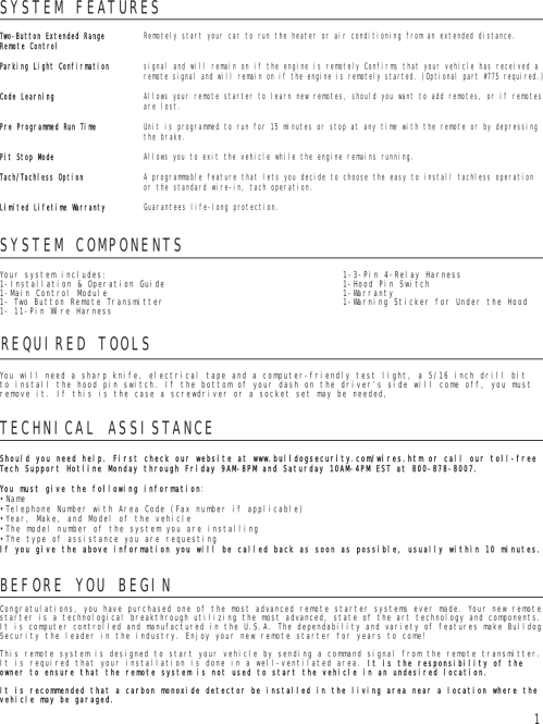 small resolution of page 2 of 8 bulldog security bulldog security remote starter