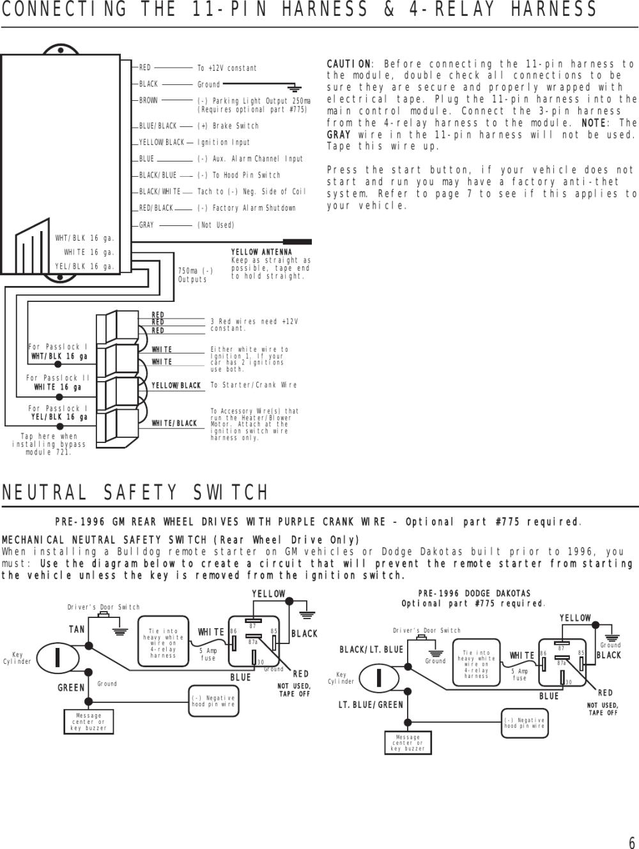 medium resolution of  bulldog security remote starter rs82 users manual on bulldog wiring box bulldog cooling harness