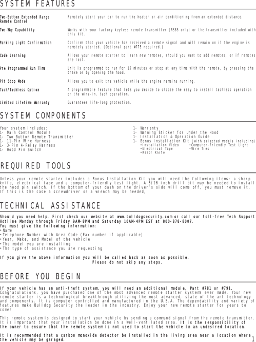 small resolution of page 2 of 8 bulldog security bulldog security rs82 users