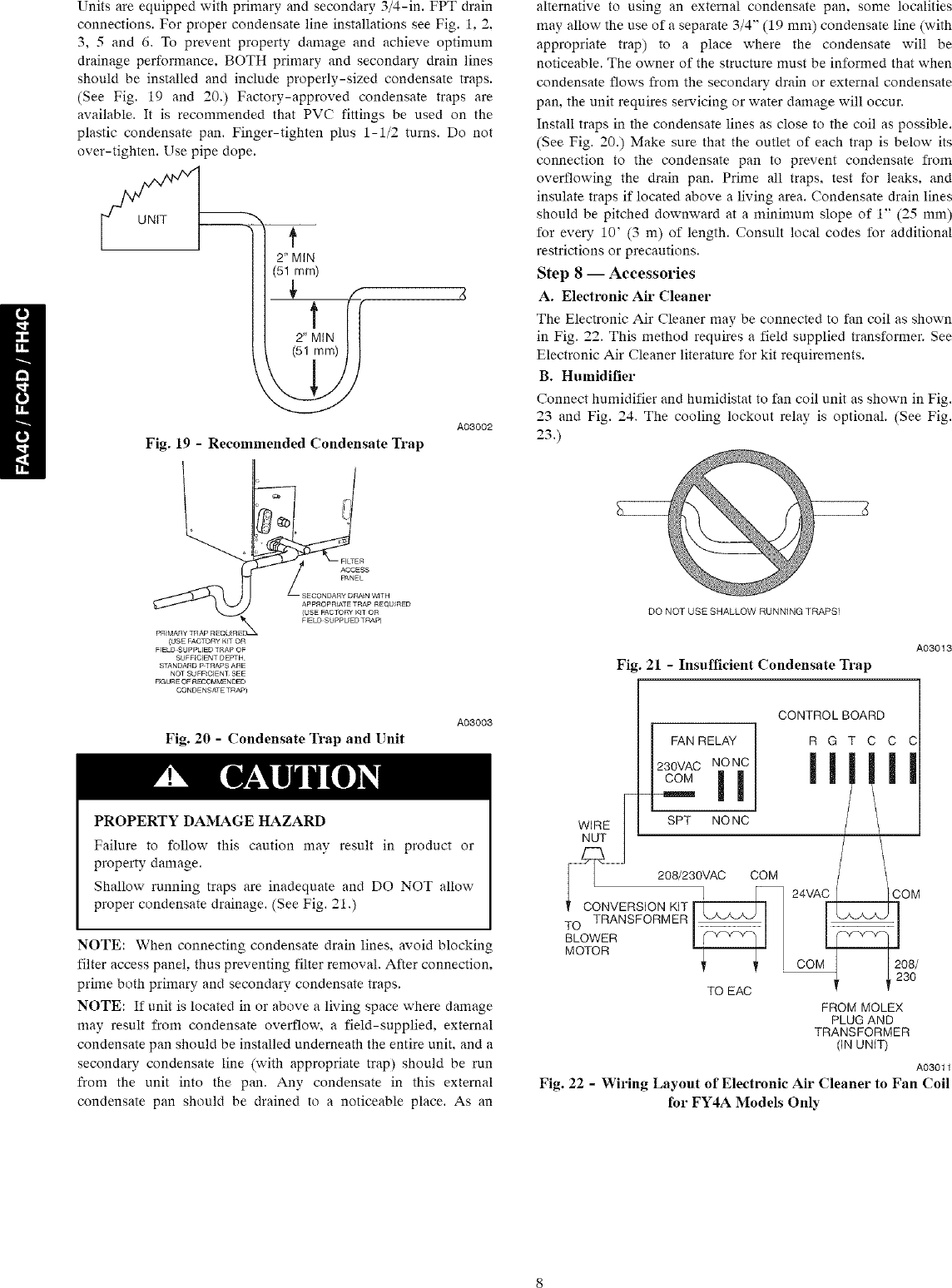 hight resolution of page 8 of 12 carrier air handler indoor blower evap manual l0801090
