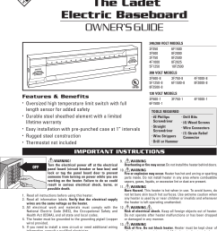 page 1 of 12 cadet cadet 10f2500 users manual 720001 [ 1089 x 1559 Pixel ]