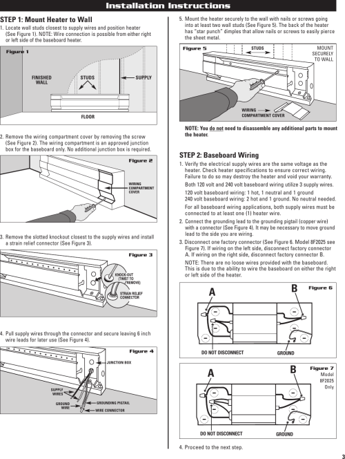 small resolution of page 3 of 12 cadet cadet 10f2500 users manual 720001