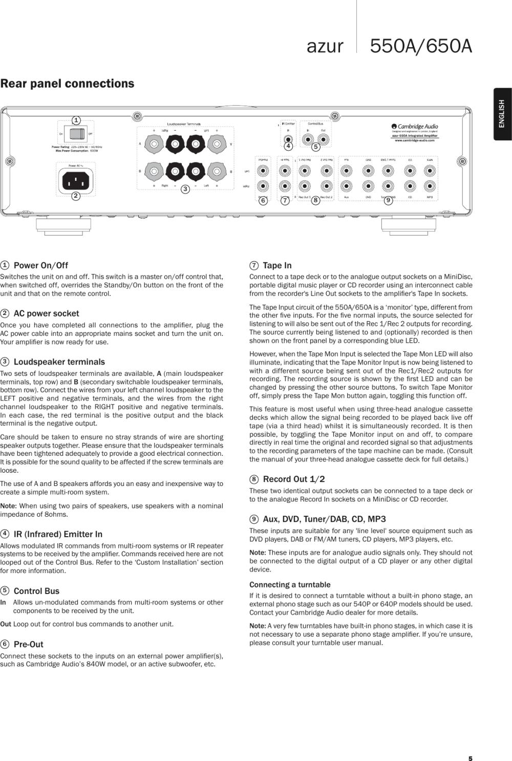 medium resolution of page 5 of 12 cambridge audio cambridge audio azur 550a
