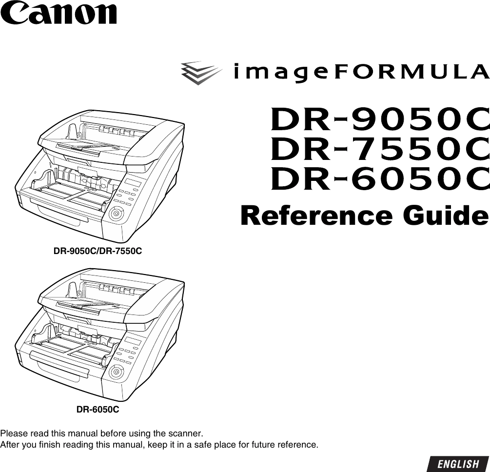 Canon Imageformula Dr 9050C Production Scanner Owners