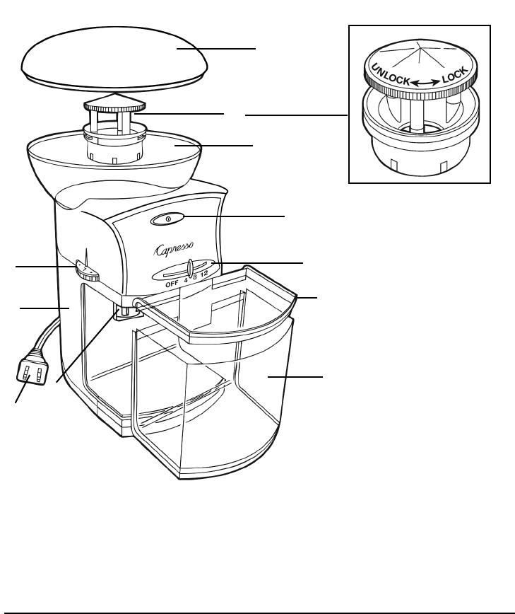 Capresso Coffee Burr Grinder 559 Owner S Manual