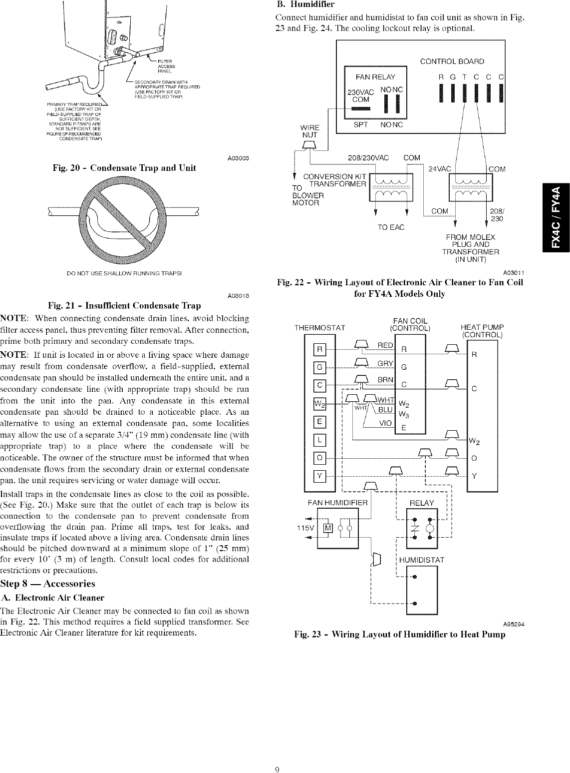 hight resolution of page 9 of 12 carrier fx4cnf018000 user manual air handler manuals and guides l0801053