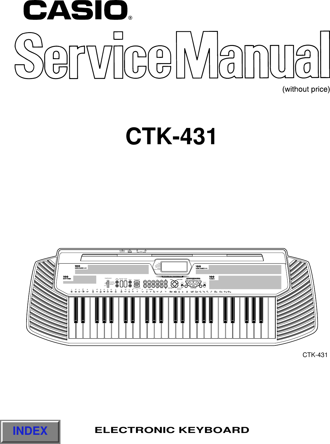 Casio Electronic Keyboard Users Manual S/M CTK 431