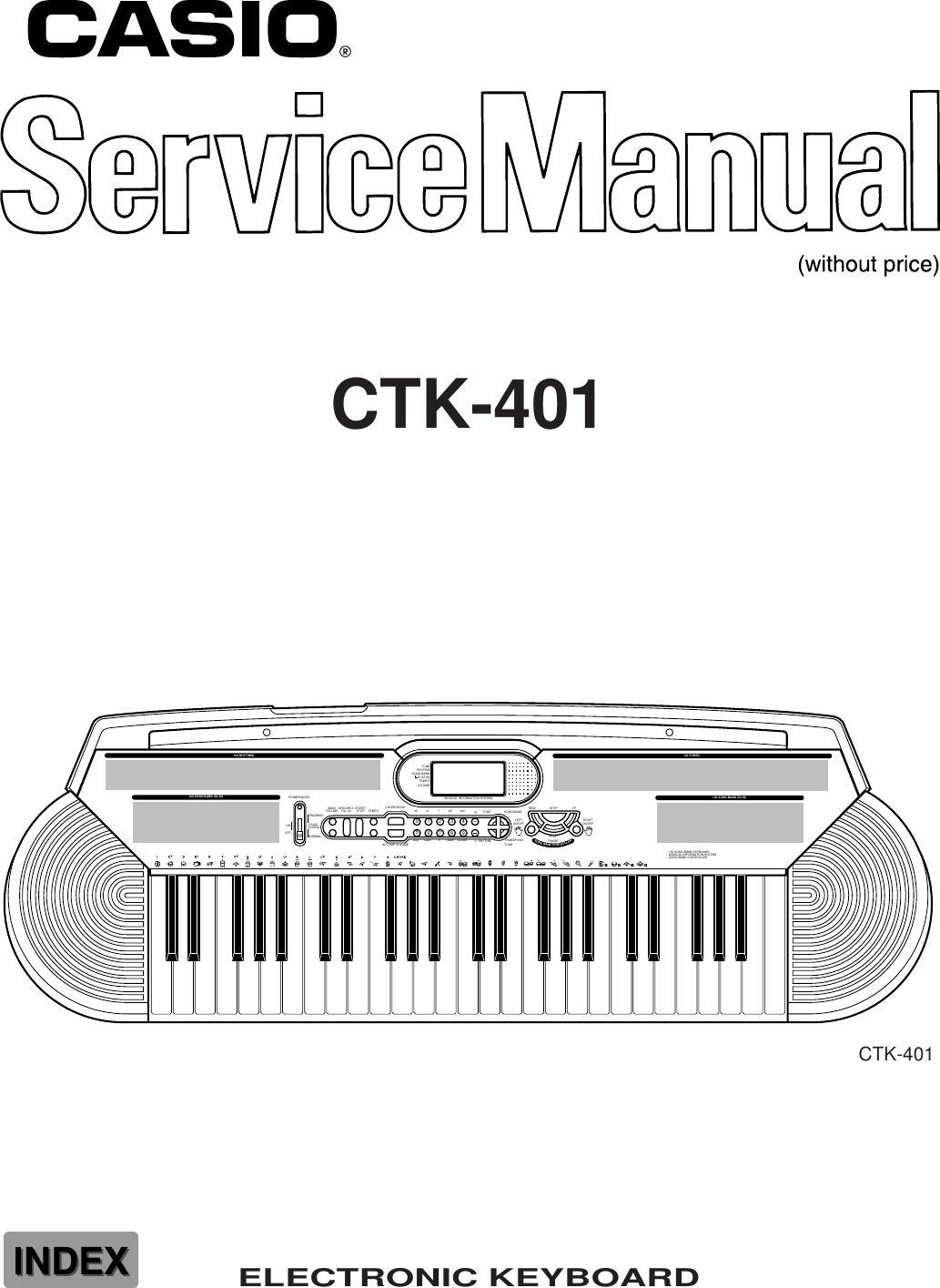 Casio Electronic Keyboard Ctk 401 Users Manual S/M
