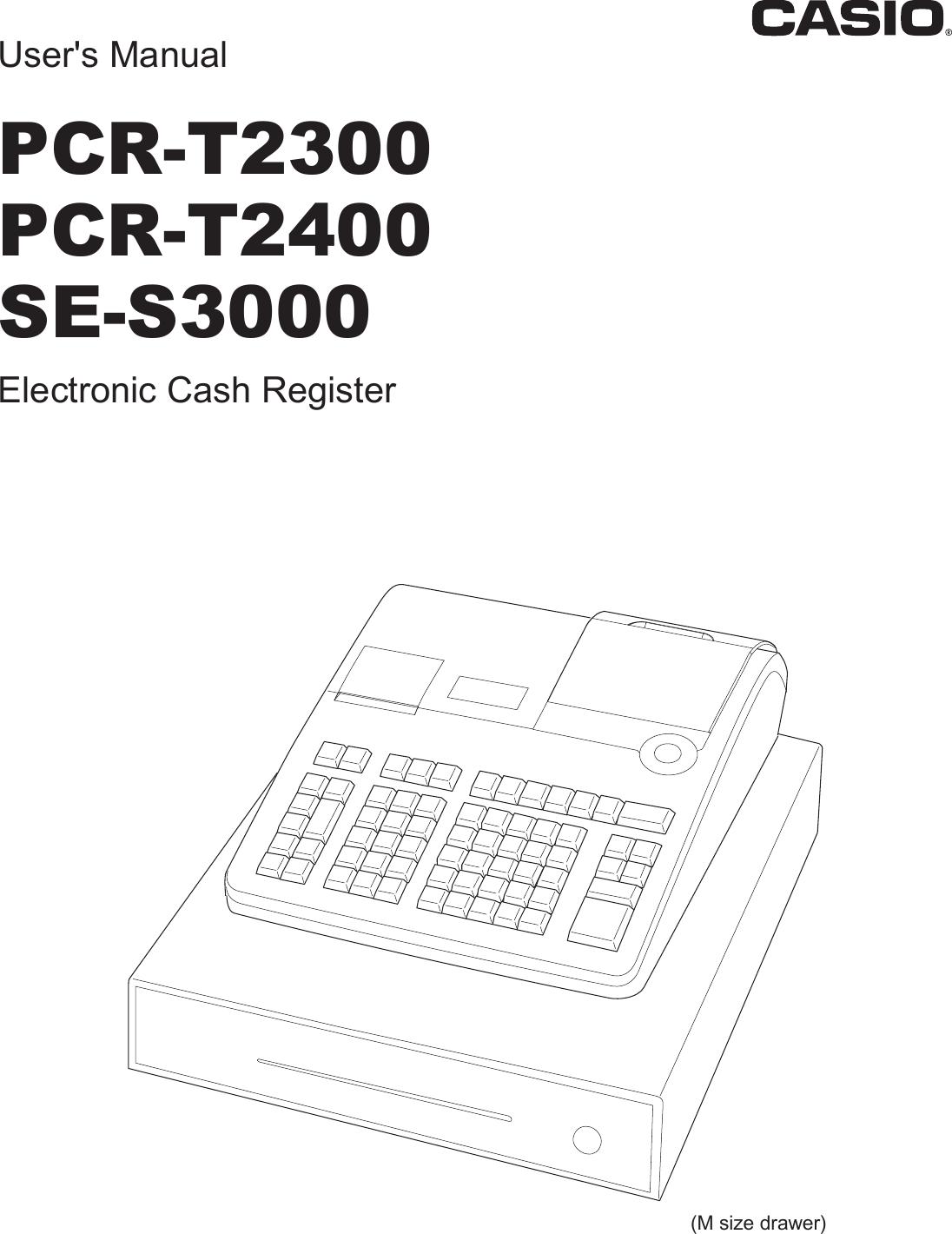 Casio Pcrt2300 Inc E Owners Manual
