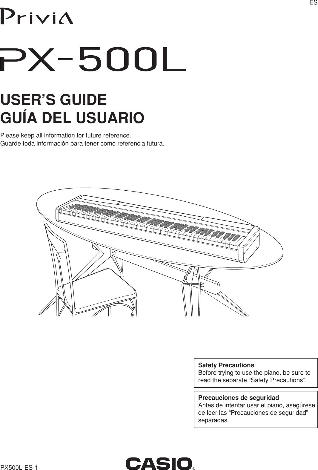 Casio Px500L Users Manual