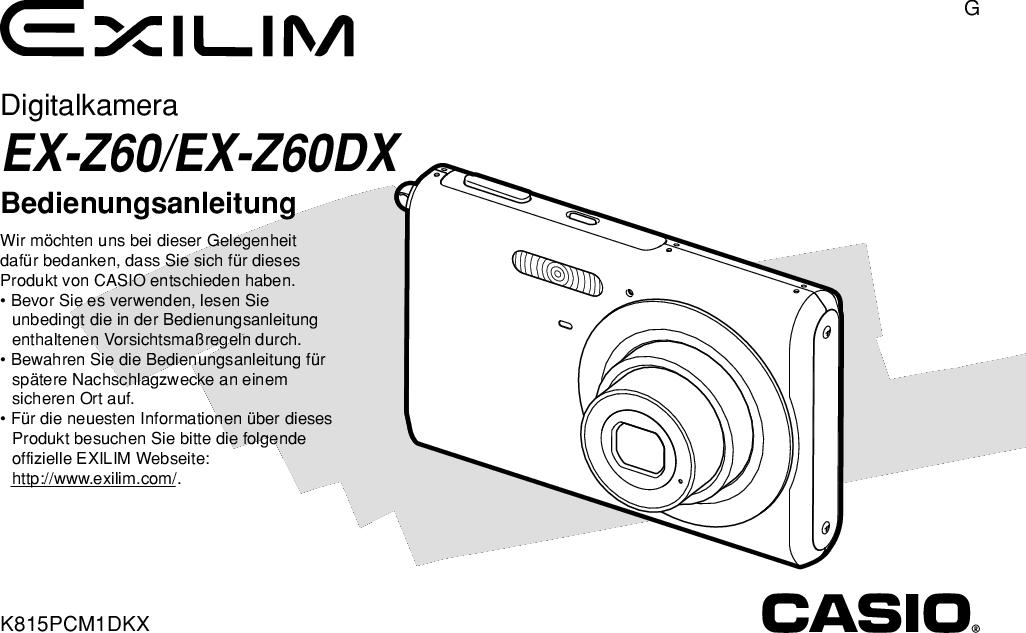 Bedienungsanleitung Casio Exilim