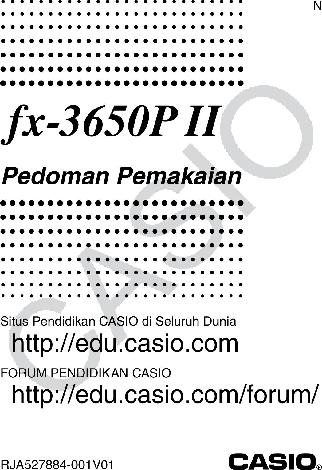 Casio Fx 3650P II 3650PII ID