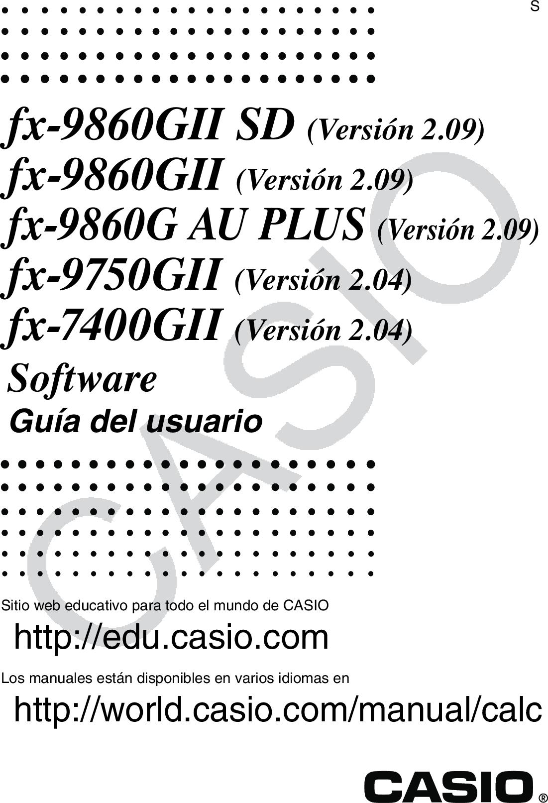 Casio Fx 9860GII SD_9860GII_9860G AU PLUS_9750GII_7400GII