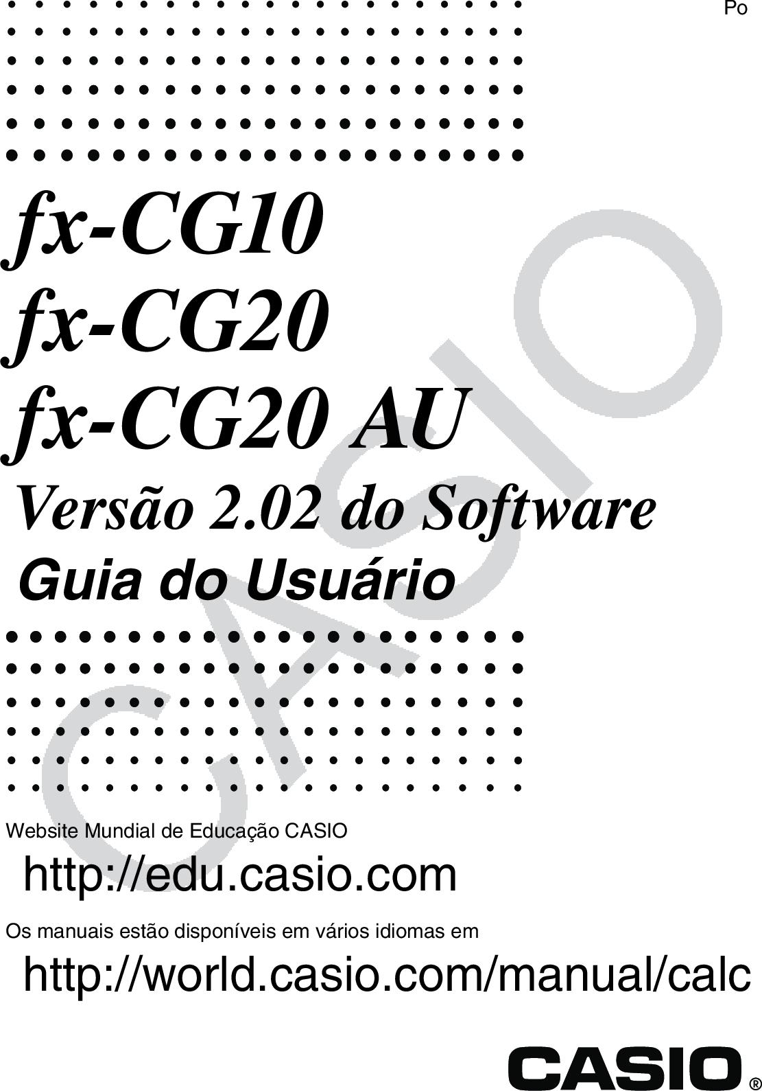 Casio Fx CG10_CG20_CG20 AU CG10_20_Soft CG10 20 Soft PT