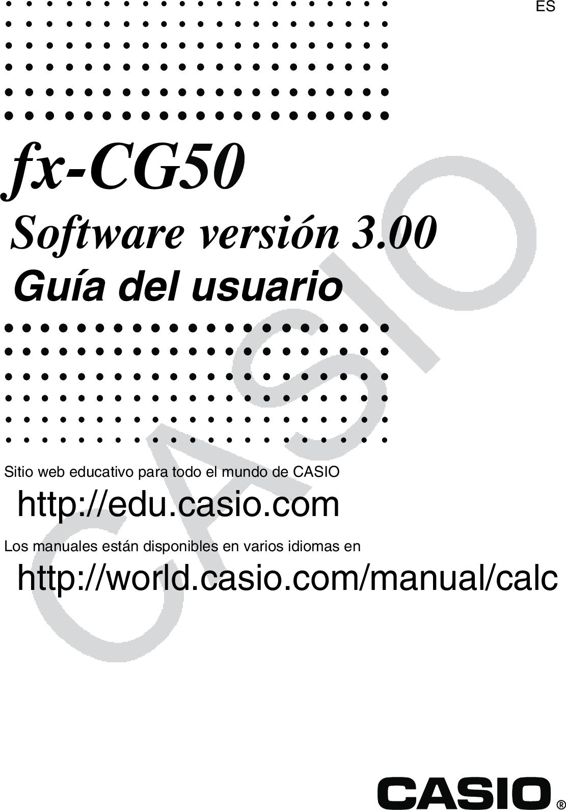 Casio Fx CG50 CG50_Soft Soft ES