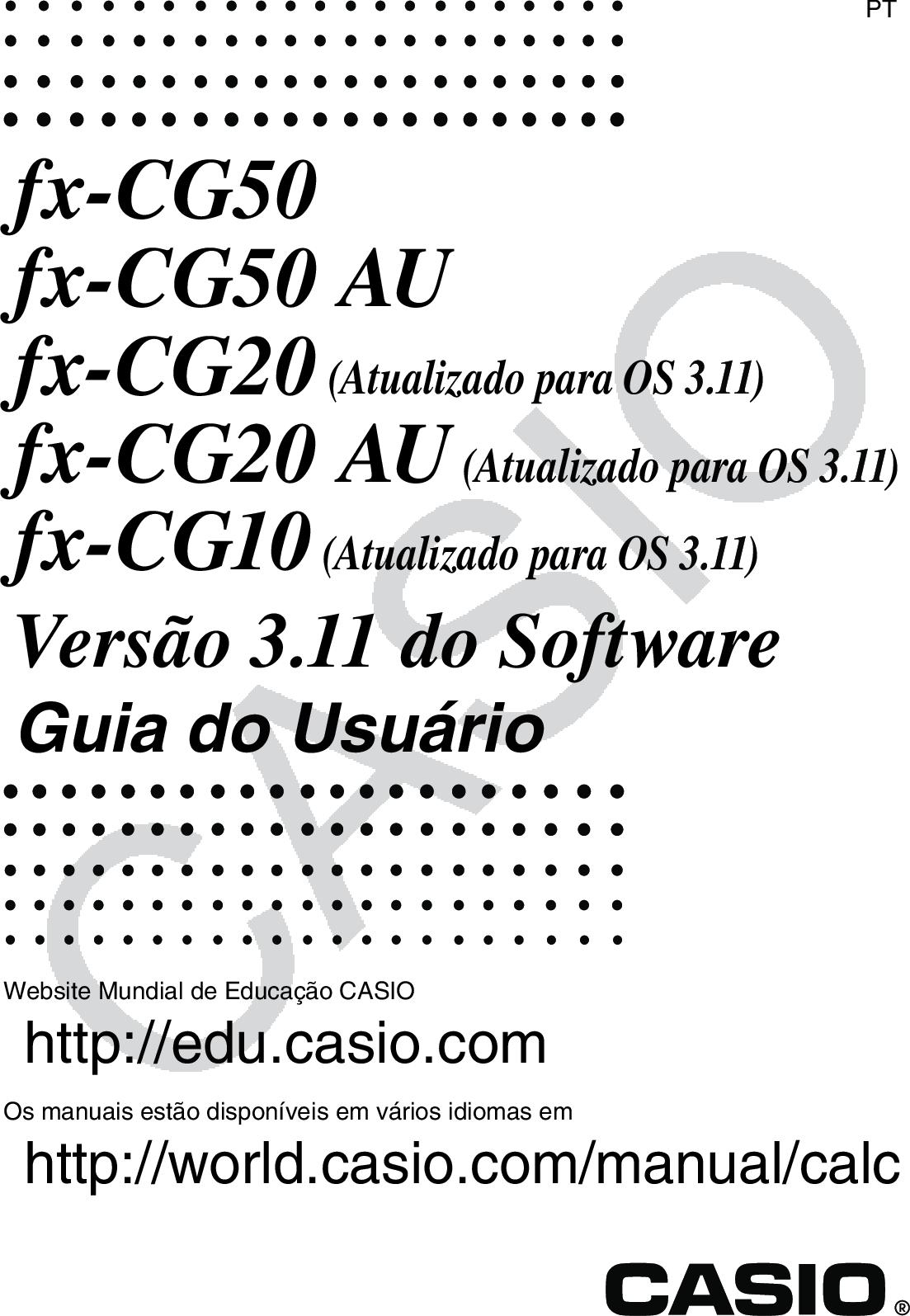 Casio Fx CG50_fx CG50 AU_fx CG20_fx CG20 CG10 CG50_Soft