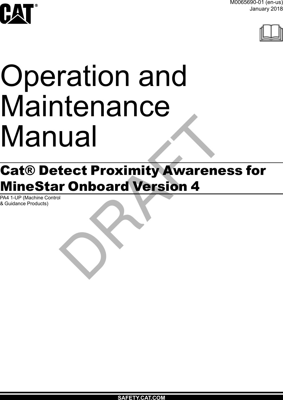 Caterpillar PL671 Digital Transmission System User Manual