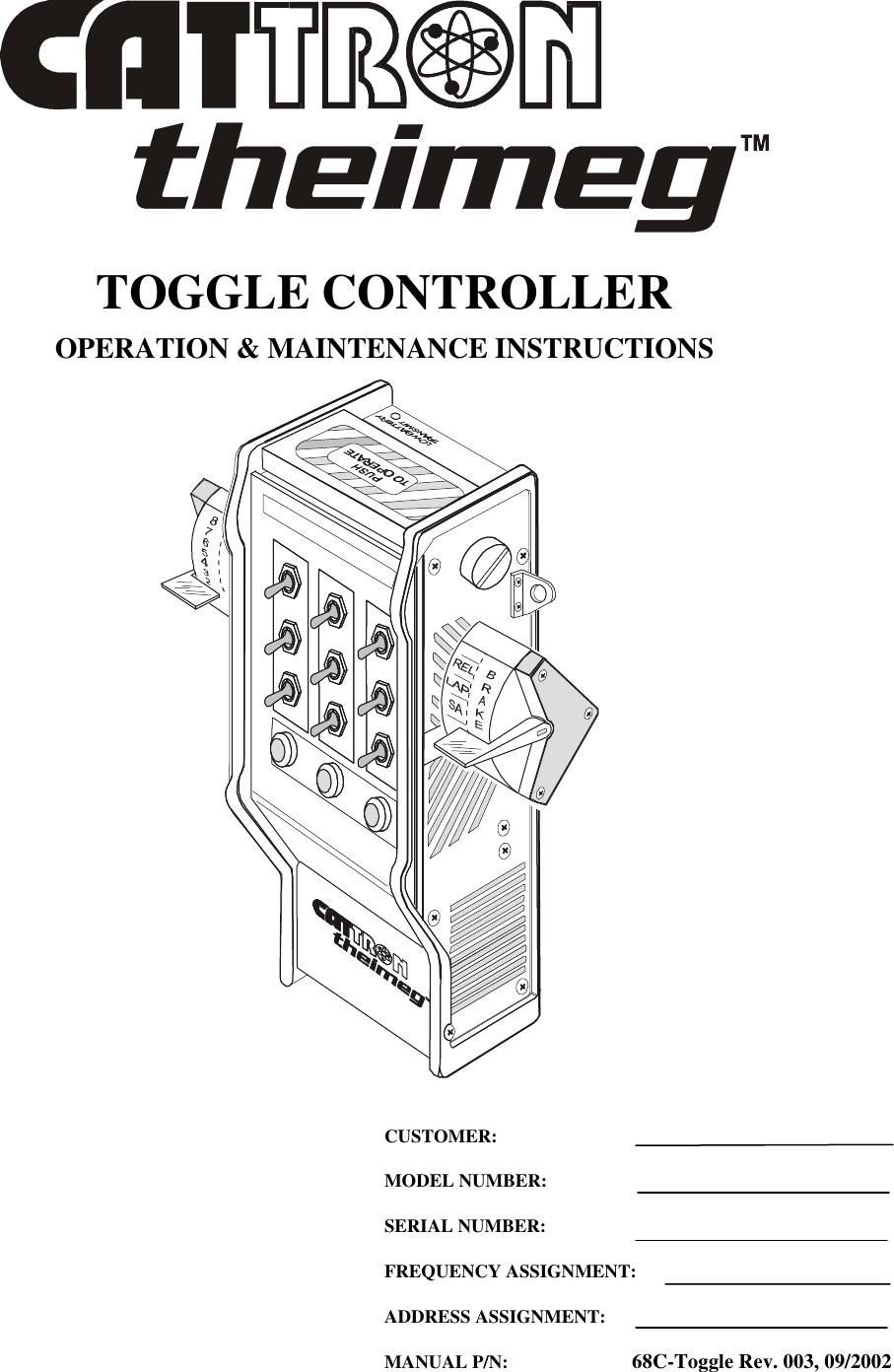 Cattron North America ETH-15 Industrial Remote Controller