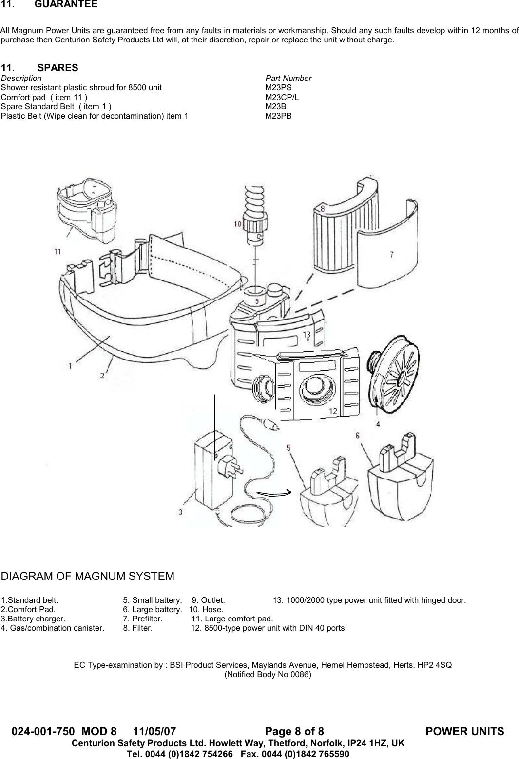 hight resolution of page 8 of 8 centurion centurion magnum m23 1000 users