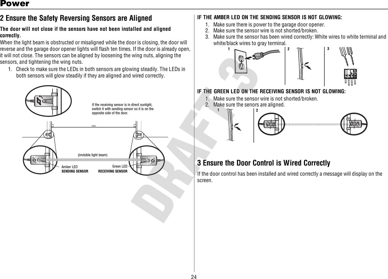 hight resolution of garage door opener safety reversing sensor wiring  diagram share garage door opener safety
