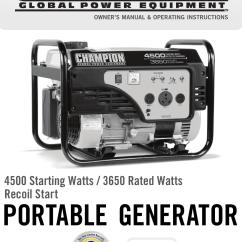 Champion Generator Wiring Diagram Sony Xplod Cdx Gt180 Model 100216