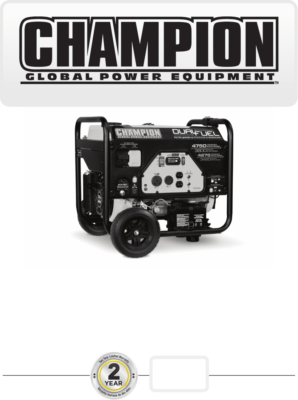 medium resolution of  wiring diagram on champion power equipment 76533 owners manual on