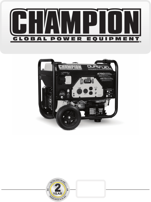 small resolution of  wiring diagram on champion power equipment 76533 owners manual on