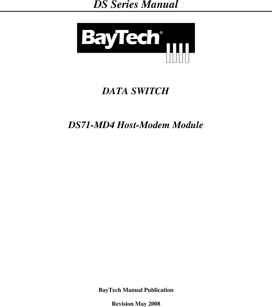 Cisco Systems Baytech Ds Series Users Manual DS71 MD4