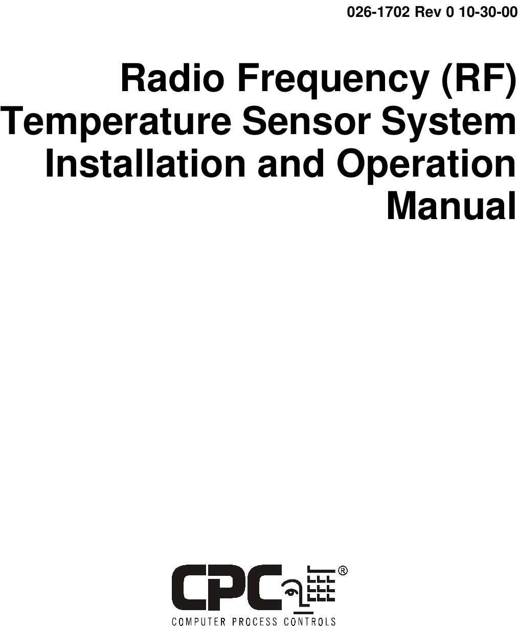 Computer Process Controls 809-3542 RF ambient temperature