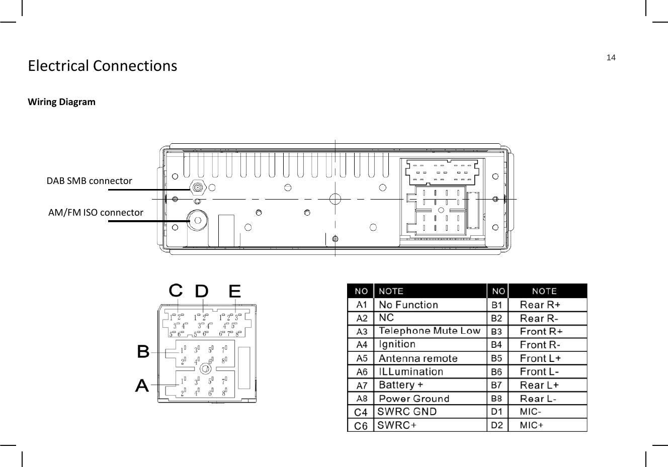 Continental Automotive TRD7412UB-OR Car Audio User Manual