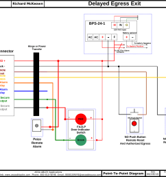 alarmed exit wire diagram [ 1580 x 1207 Pixel ]