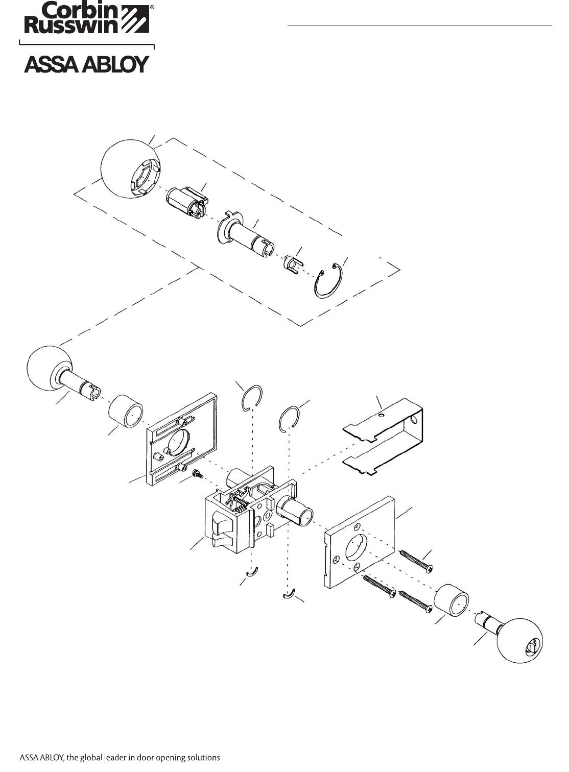 Corbin Russwin 45066 CR ED6000 UT5200 Series Parts Manual