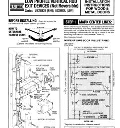 corbin mortise lock wire diagram [ 1275 x 1651 Pixel ]