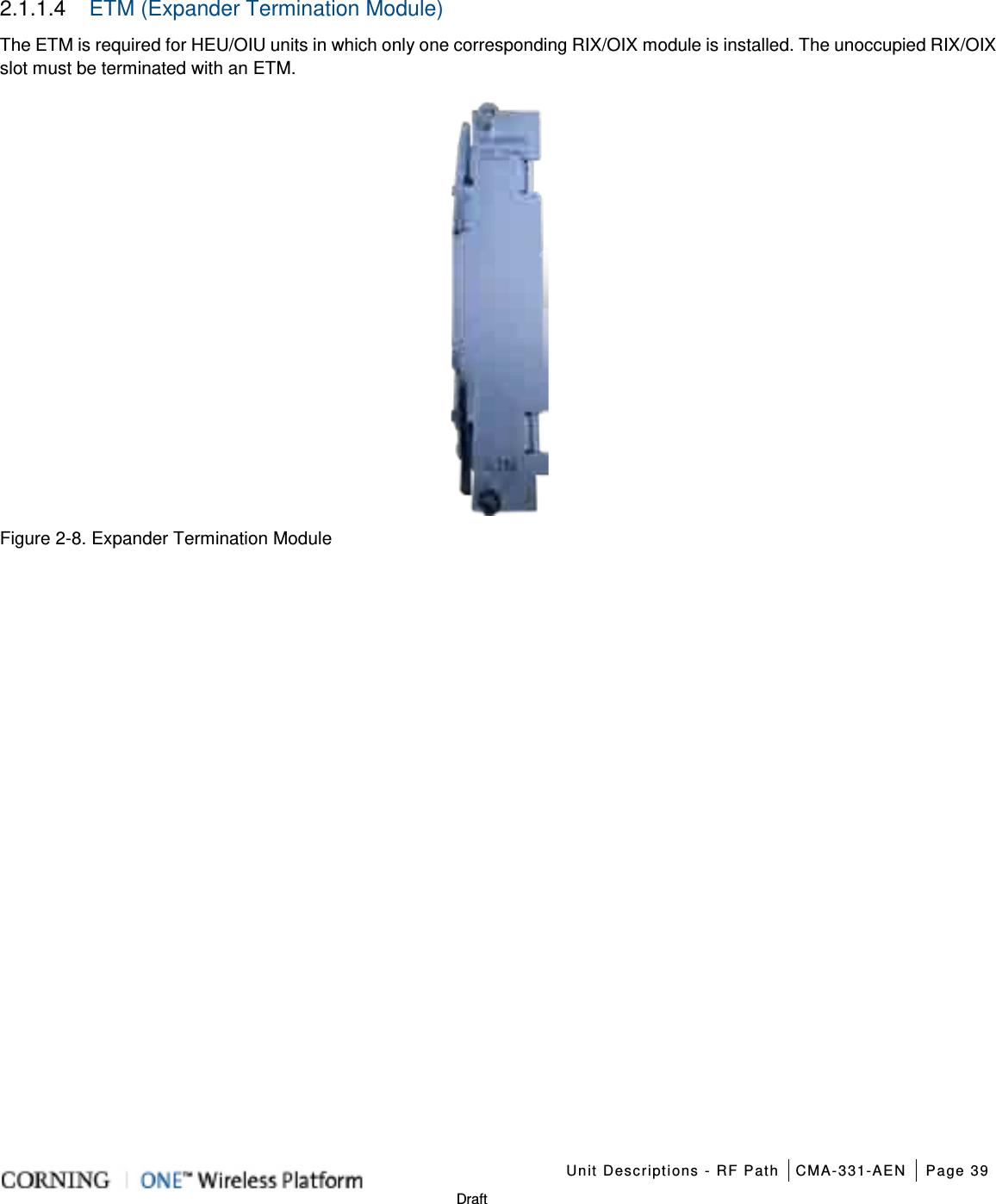 Corning Optical Communication Wireless 1RAU5 ONE Optical
